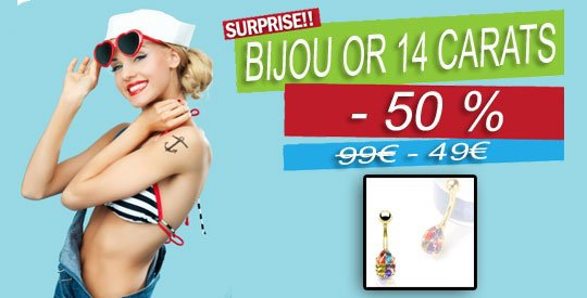 Surprise !!! Banana Nombril en Or 14 carat en Promotion !!