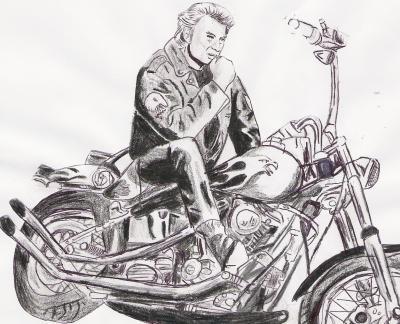 Johnny Hallyday Creation Dessin