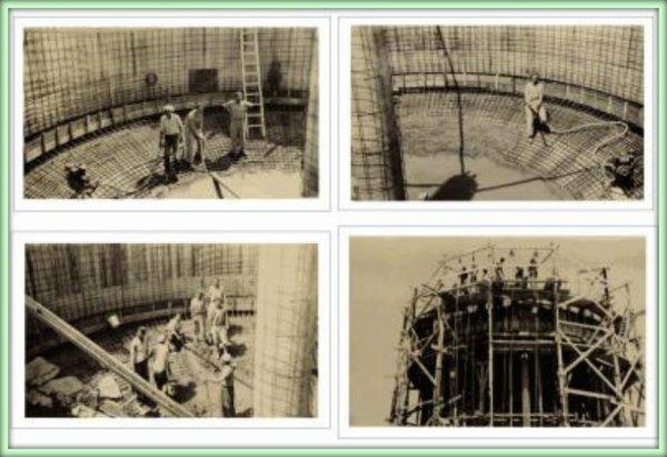 LAMTAR : Construction du château d'eau en 1956