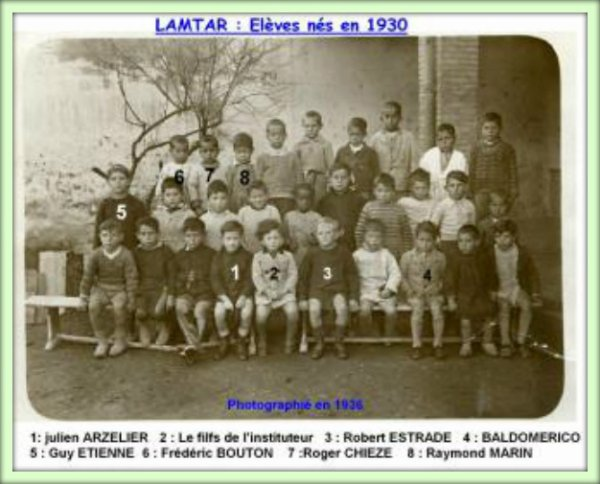 LAMTAR : Photo de classe 1936