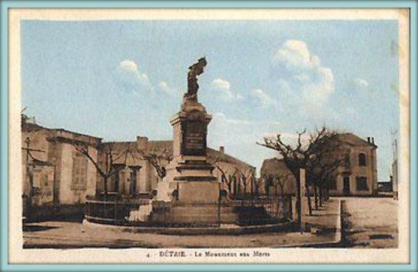 DÉTRIE : Le monument aux morts