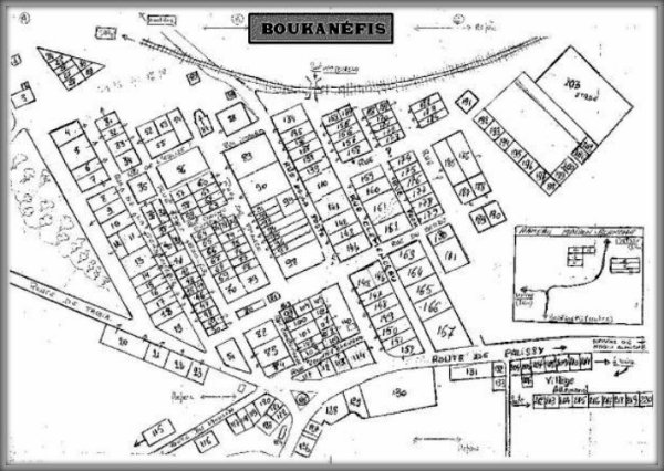 BOUKANEFIS :  Plan du village