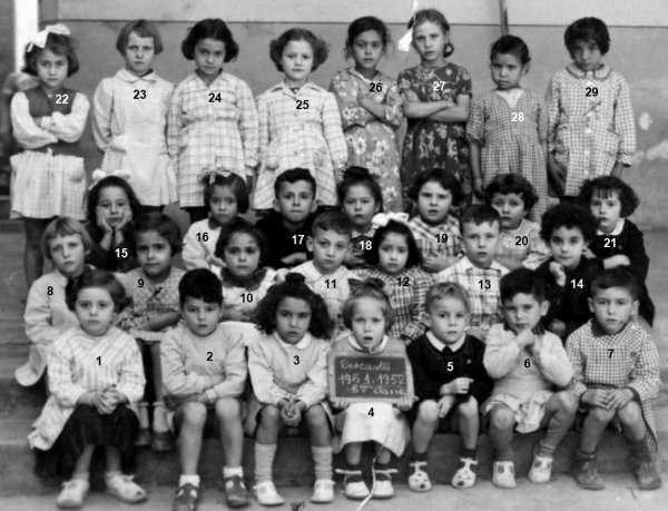 DESCARTES : Photo de classe 1951/52