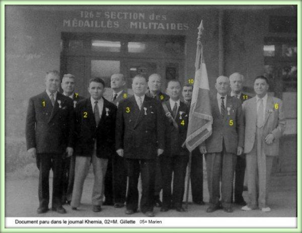 SIDI BEL ABBES : photo de groupe de médaillés militaires