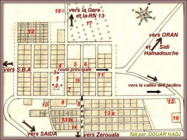 PRUDON : Plan du village après 1962