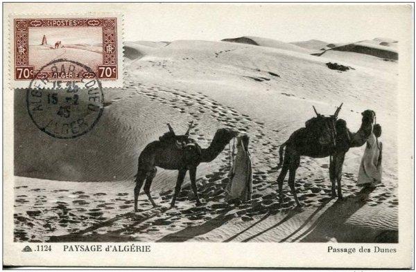 Carte postale d'algérie de 1945