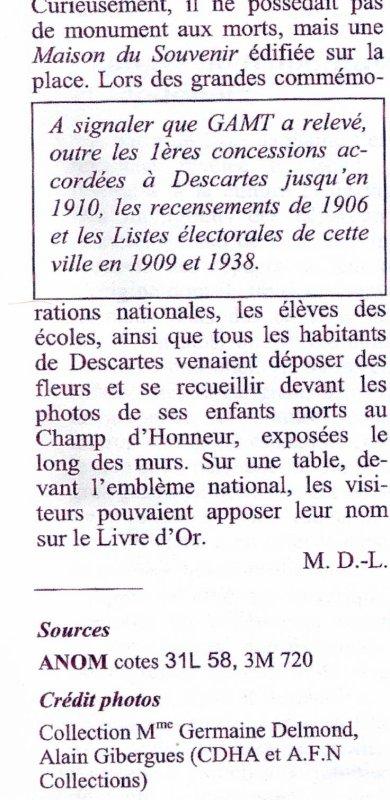 DESCARTES : Dossiers , Documents et cartes postales dénichées sur Delcampe