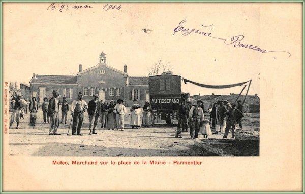 PARMENTIER : Une vieille carte postale