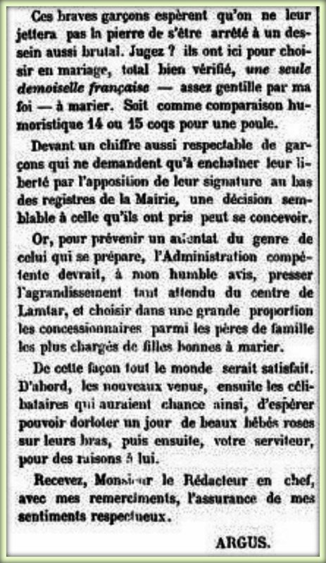 LAMTAR : Article de presse