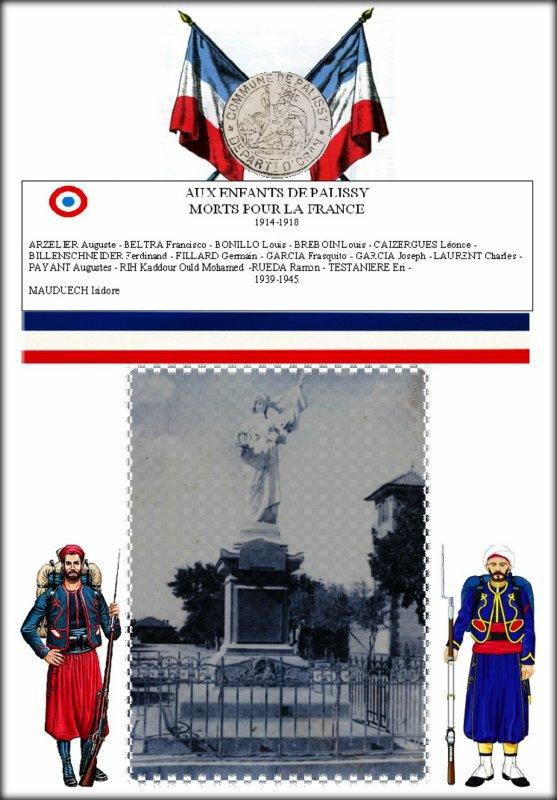 PALISSY : Le monument aux morts