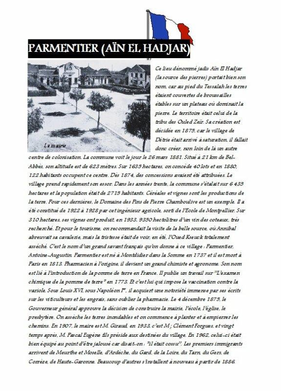 PARMENTIER : L'histoire du village