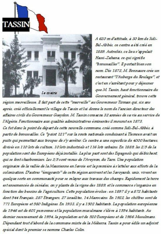 TASSIN : Histoire du village