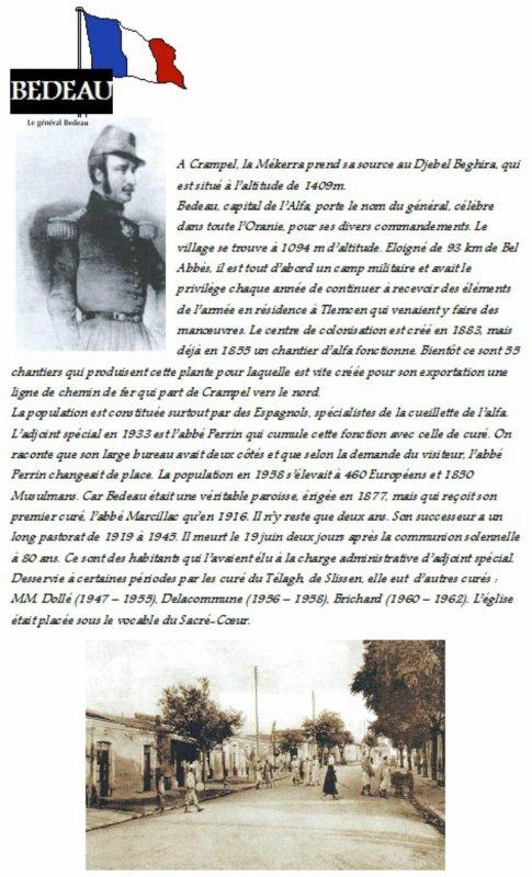 BEDEAU : Histoire du village