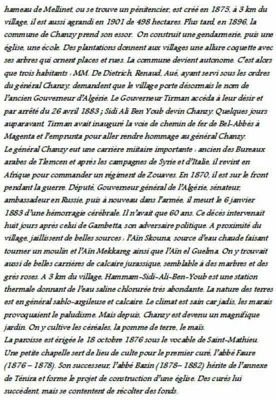 CHANZY : Histoire du village