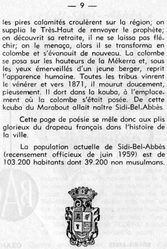 SIDI BEL ABBES : Document