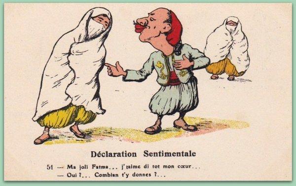 DETRIE : Vieille carte postale animée