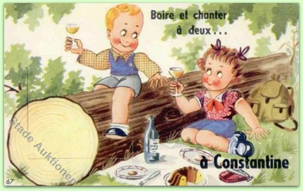 OUED IMBERT : Vieille carte postale animée