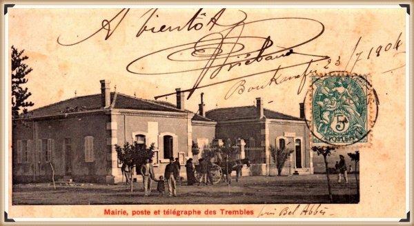 LES TREMBLES : Vieille carte postale