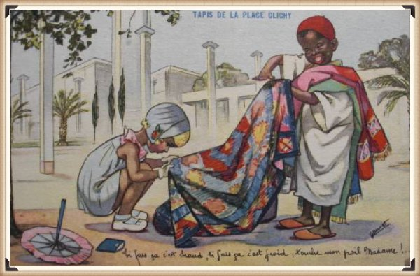 LAMORICIERE : Vieille carte postale animée