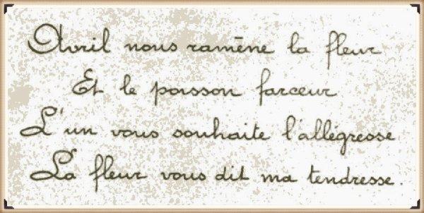 Carte 1er Avril 1934 dédiée à ma maman Joséphine SAULNIER