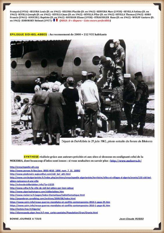 JC ROSSO : HISTOIRE DE SIDI BEL ABBES