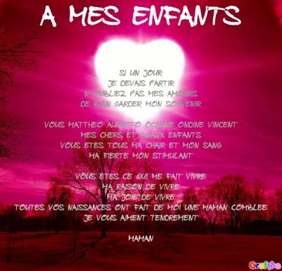 Poeme A Mes Enfants Blog De Lesrirififiloulou