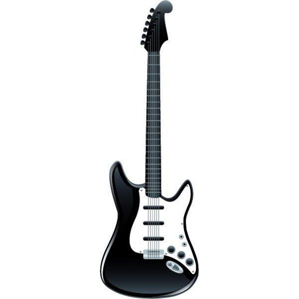 cherche guitare electique noire