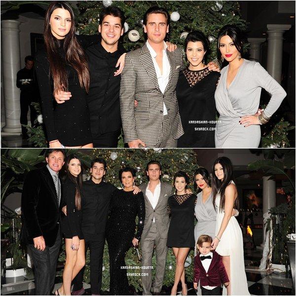 .  24 décembre 2011 : Kourtney et toutes sa famille était présents pour fêter le réveillon . Elle est ravissante , le petit Mason mimi comme tout ! La belle était avec son petit amie ! Donc la rumeur est fausse  a mon avis --' TOP  .