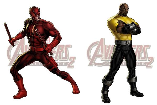 Nouveau Personnage :  Daredevil & Luke Cage