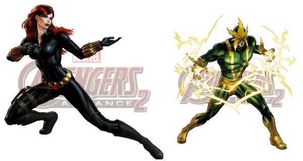 Nouveau Personnage : La Veuve Noire & Electro