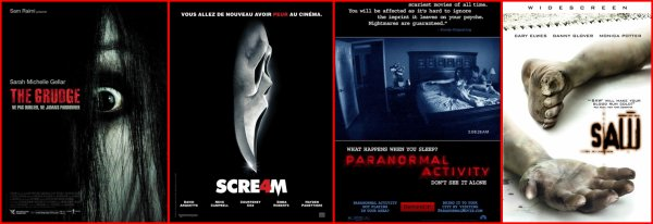 The Grudge VS Scream VS Paranormal Activity VS Saw