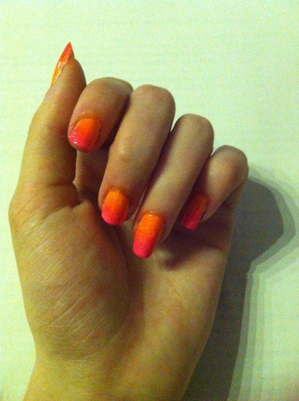 Dégradé ongles
