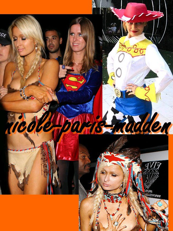 Halloween = Nicole Richie en Cow girl, Paris Hilton en indienne sexy et Nicky Hilton en Superwoman !!!