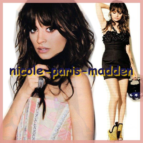 "Nicole Richie en couverture de ""Instyle magazine"" version Allemande"