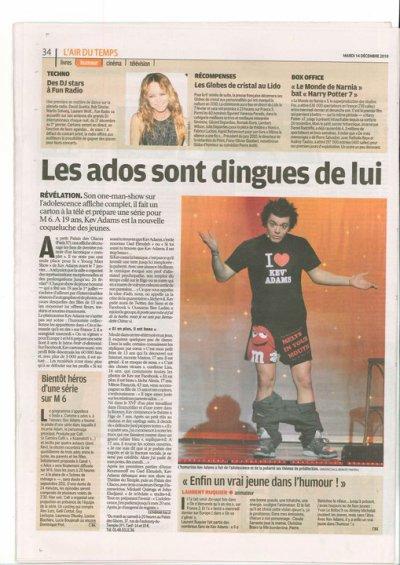 """Kev' dans """"le parisien"""""""