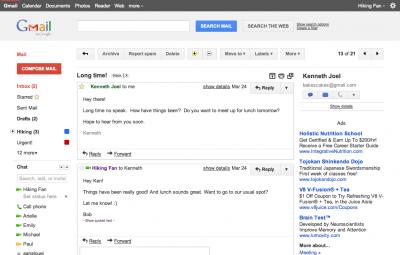 Gmail: Testez la nouvelle interface