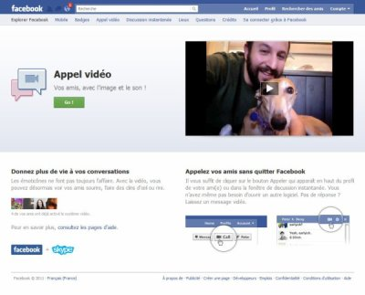Facebook videochat : mode d'emploi pour l'installer