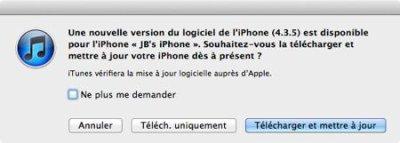 iOS 4.3.5 disponible en téléchargement