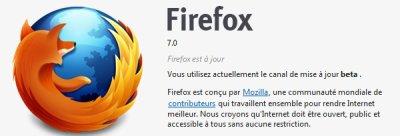 La première beta de Firefox 7 est disponible