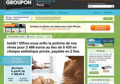 Groupon.fr retire son annonce pour des faux seins à moitié prix