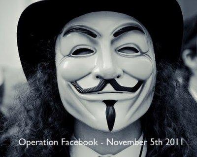 """""""Anonymous"""" promet de détruire Facebook"""