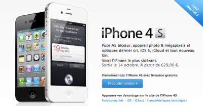 Démarrage « extraordinaire » pour l'iPhone 4S