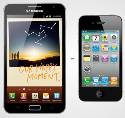 Iphone 4S Vs Samsung Galaxy Note