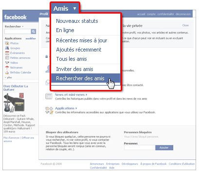 "Facebook condamné pour son application ""recherche d'amis"""