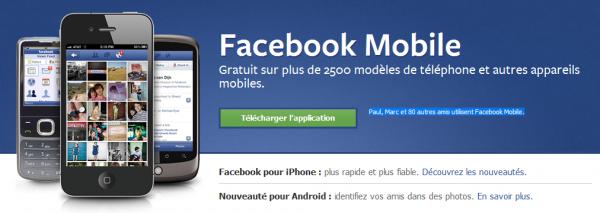 Facebook mobile : marche arrière sur Android et mise à jour de Messenger