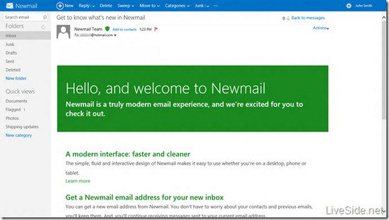 """Hotmail : un nouveau design """"Metro""""?"""
