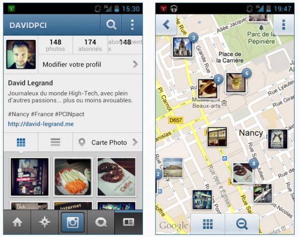 Instagram 3.0 référence vos photos dans une carte du monde