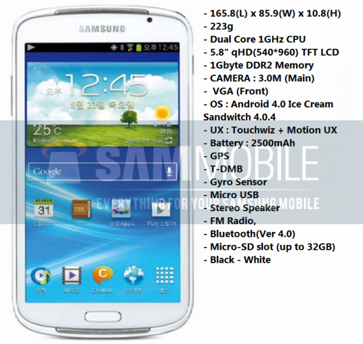 Samsung Galaxy Player 5.8 : un baladeur sous Android 4.0 de 5,8 pouces