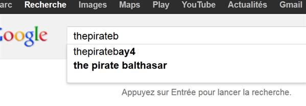 The Pirate Bay un peu plus expulsé des fonctionnalités de Google