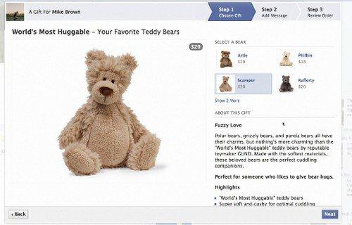 Facebook ouvre une boutique de cadeaux en ligne